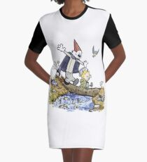 Calvin and Hobbes travel Over the Garden Wall Graphic T-Shirt Dress