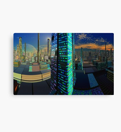 Curved Space  Canvas Print
