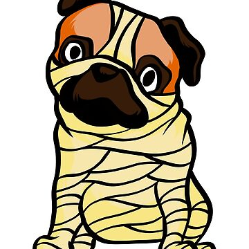 pug mummy by 8fiveone4