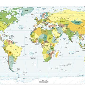 World Map by wasabi67