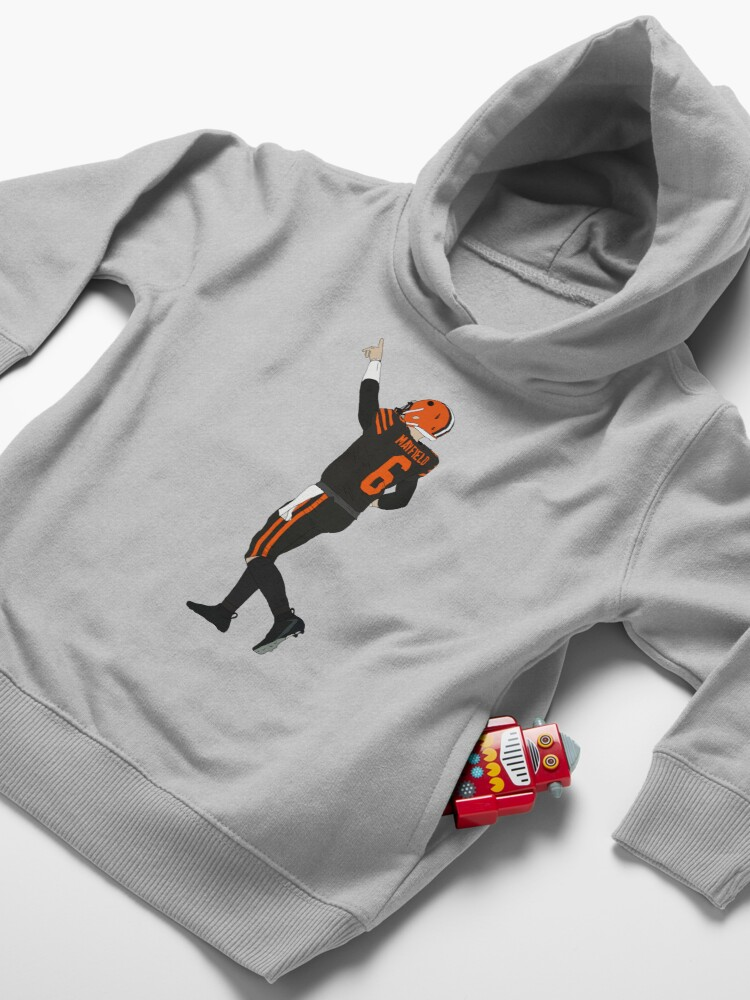 Alternate view of Baker Mayfield's First Win Toddler Pullover Hoodie