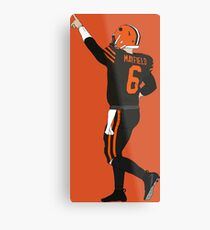 Baker Mayfield's First Win Metal Print