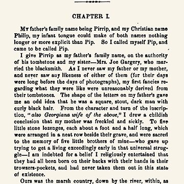 Great Expectations by Charles Dickens first page by buythebook86