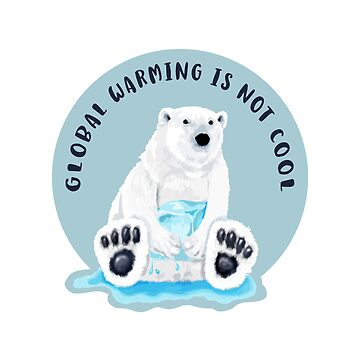 Global Warming Is Not Cool - Polar Bear and Melting Ice by jitterfly