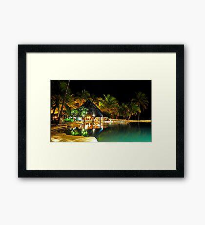 Pool Bar at Sonaisali Island Resort, Fiji Framed Print