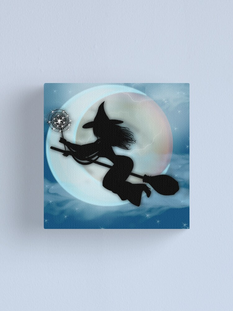 Alternate view of Baby Witch - Silhouette Canvas Print