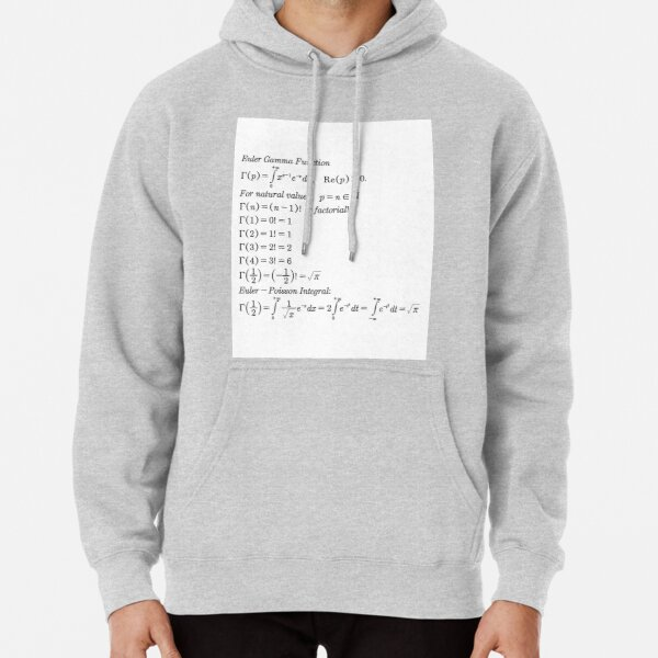Physics Prints,  #mathematics #gammafunction #Γ #capital #Greekalphabet #letter #extension #factorial #function #argument #shifteddown #real #complex #numbers #gamma #defined #complexnumbers #nonpositive #integers Pullover Hoodie