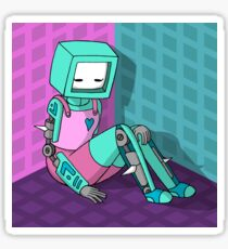 Robo Girl Sticker