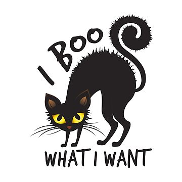 Funny Halloween Cat I Boo What I Want  by goodspy