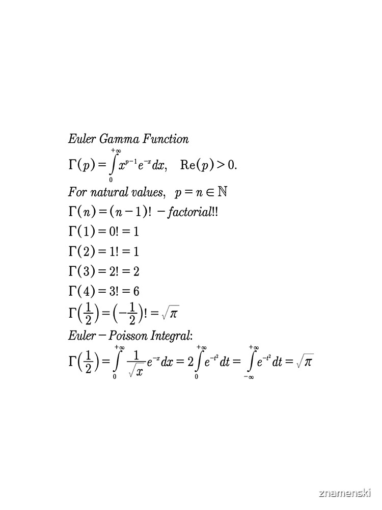 #mathematics #gammafunction #Γ #capital #Greekalphabet #letter #extension #factorial #function #argument #shifteddown #real #complex #numbers #gamma #defined #complexnumbers #nonpositive #integers by znamenski