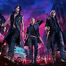 Devil May Cry 5 Poster - Nero, Dante, V by AngeliaLucis