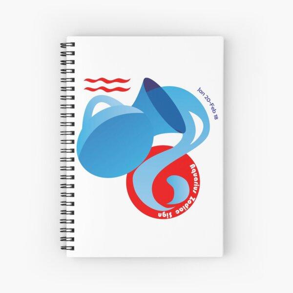Aquarius - Water Bearer Spiral Notebook