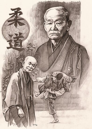 Quot Jigoro Kano Quot Posters By Alleycatsgarden Redbubble