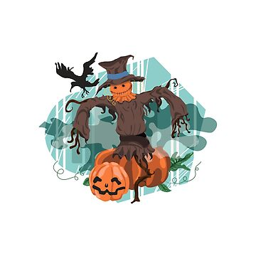 Scarecrow and pumpkin by fourretout