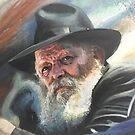 « Rabbi de Loubavitch oil painting » par Daphne-portrait
