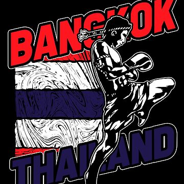 Thailand Thaiboxing Martial Arts by GeschenkIdee