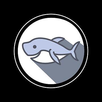HAPPY SHARK Smiling Sea Creature Animal & Fish Lovers Design by mrkprints
