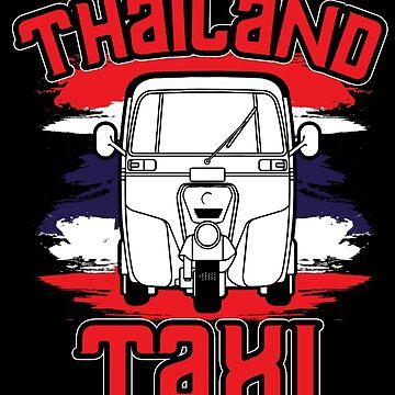 Thailand Bangkok taxi by GeschenkIdee