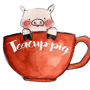 Cerdo de taza de té de KaylaPhan