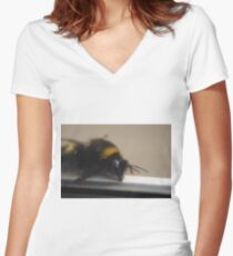 Bumble Bee Women's Fitted V-Neck T-Shirt