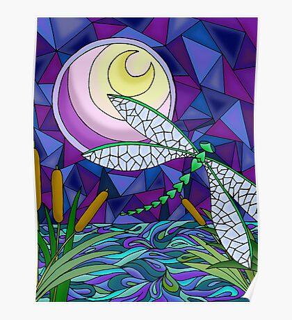 Moonlit Flight Poster