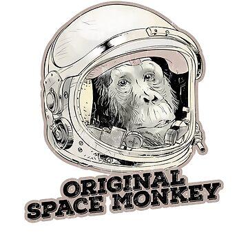 Original Space Monkey TShirt Funny Sarcastic Humor Tees Fun by noirty