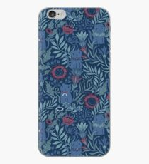 Victorian Cats, flowers and leaves iPhone Case