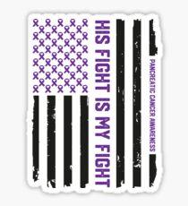Purple Pancreatic Cancer Awareness Ribbon Sticker