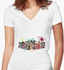 Super Junior, Boy Group, Kpop, Awesome SJ, Koreaboo Women's Fitted V-Neck T-Shirt