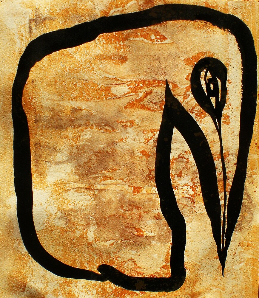 rusted birdwoman by donna malone