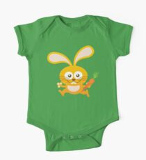 Smiling Little Bunny One Piece - Short Sleeve