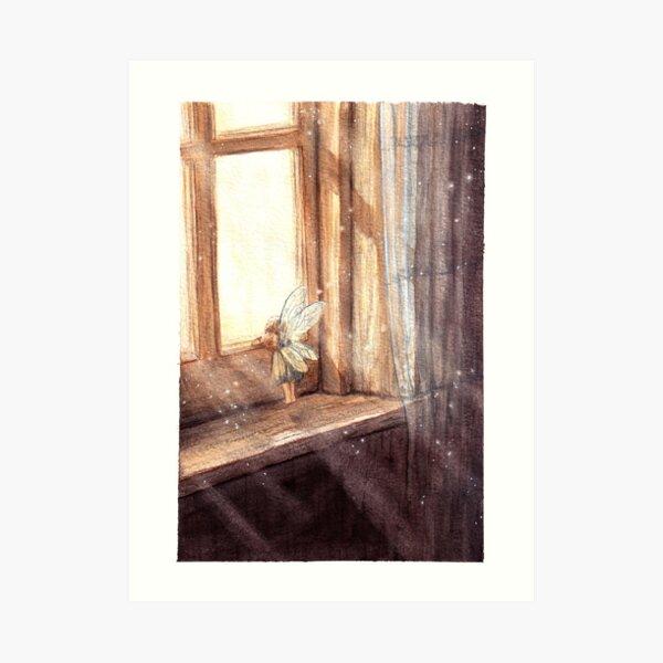 Fairy in a window Art Print