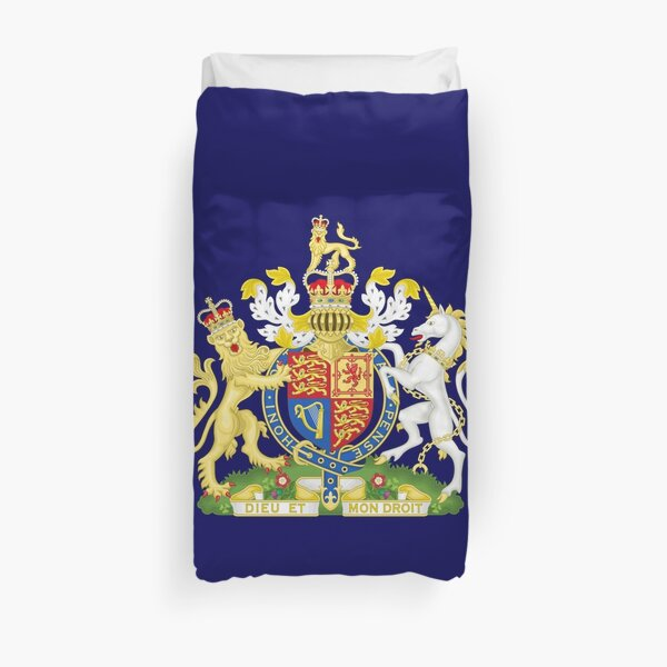 Royal coat of arms of the United Kingdom (HD) Duvet Cover