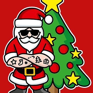 Hipster ROCK Santa Claus tattoo Christmas tree by LaundryFactory