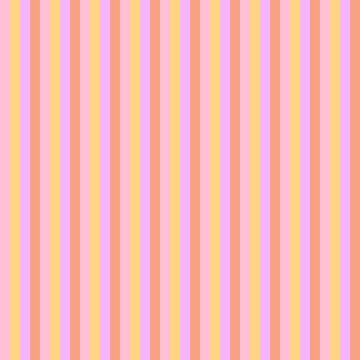 Hibiscus Hawaiian Flower Cabana Stripes in Pink, Yellow, Peach and Lilac by podartist