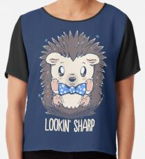 Lookin Sharp Dapper Hedgehog Chiffon Top