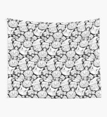 Halloween Pattern (Black and white) Wall Tapestry