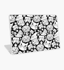 Halloween Pattern (Black and white) Laptop Skin