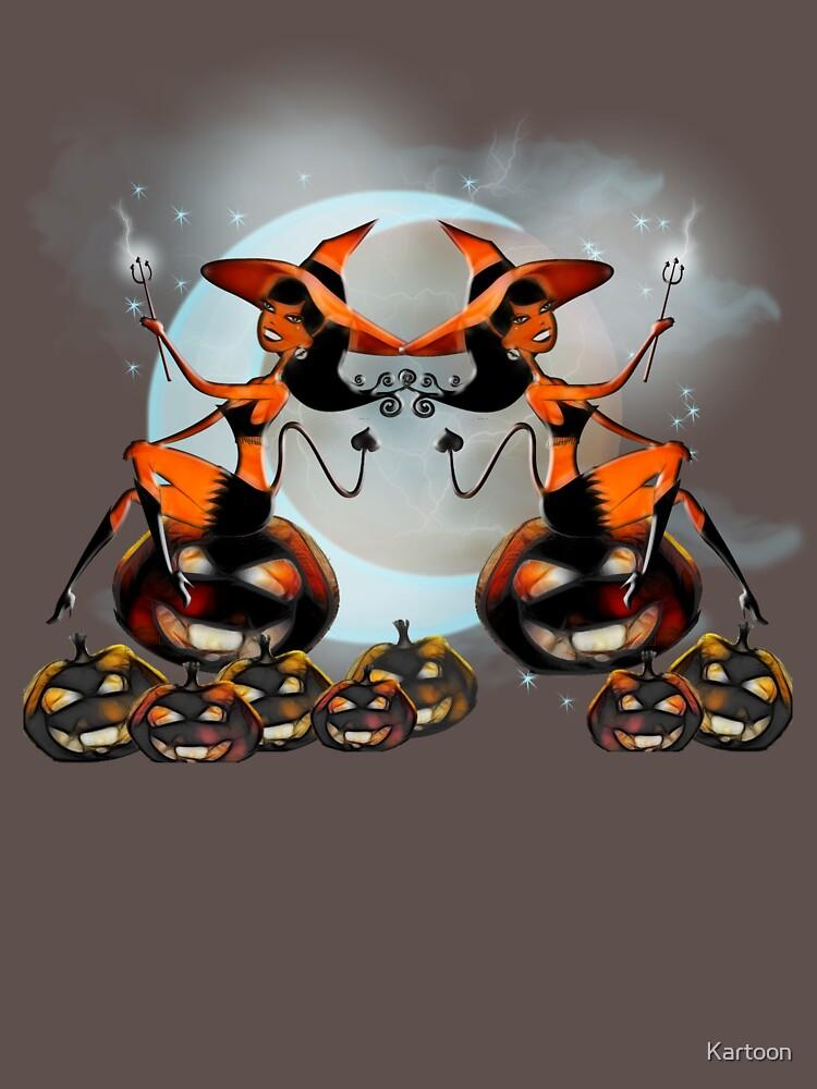 Devil Girl - Halloween Pumpkins by Kartoon
