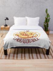 I am Labradorable - Golden Labrador Throw Blanket