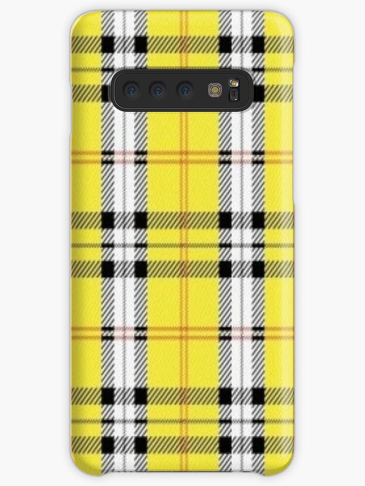 pretty nice a5e73 7c4fe 'wildflower yellow plaid' Case/Skin for Samsung Galaxy by hlncxiiiv