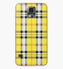 wildflower yellow plaid Case/Skin for Samsung Galaxy