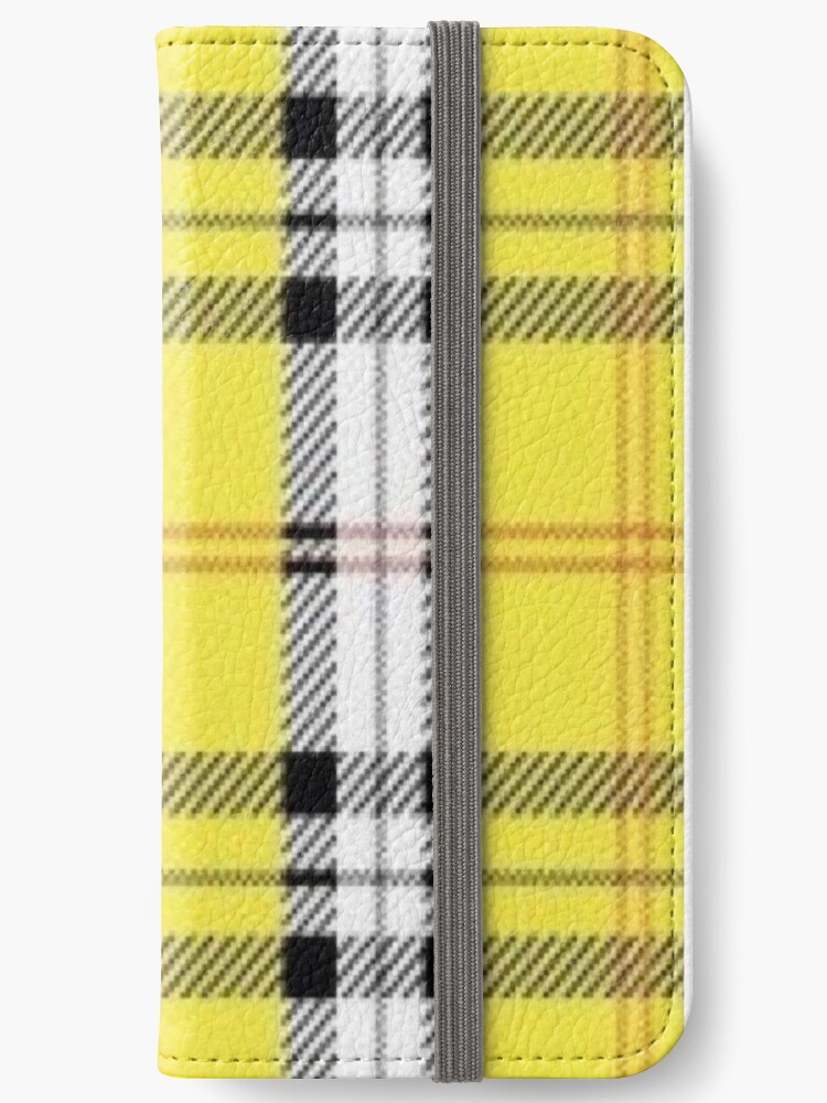 competitive price 20a35 35eb4 'wildflower yellow plaid' iPhone Wallet by hlncxiiiv