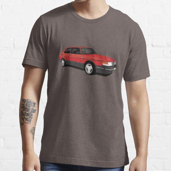 Red Saab 900 Turbo 16 Aero illustration Essential T-Shirt
