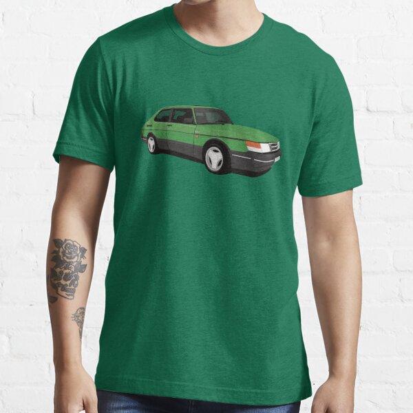 Green Saab 900 Turbo Aero illustration Essential T-Shirt