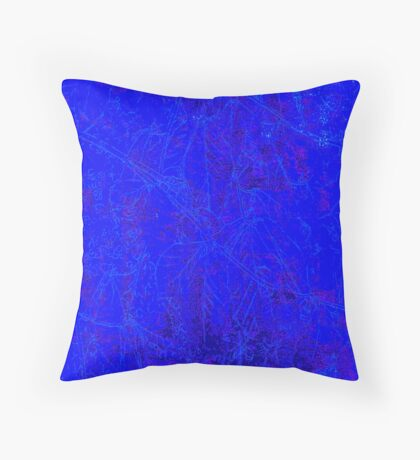 copper blue  Throw Pillow