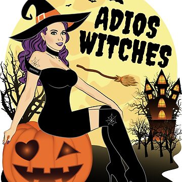 Adios Witches Funny Halloween Pumpkin by ZNOVANNA