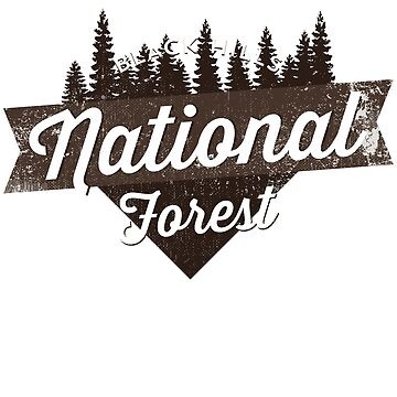 Black Hills National Forest South Dakota Logo Script T Shirt by noirty