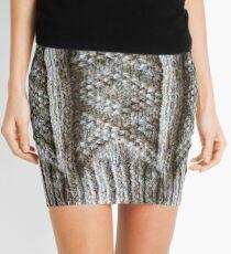 Aran Knitted Panel Mini Skirt
