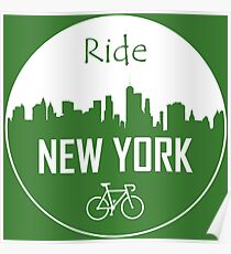 New York Cycling Poster